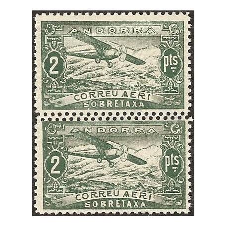 1932 ED. Andorra NE 20ddh ** [x2]