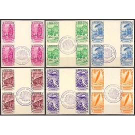 1938 ED. Cabo Juby Beneficencia 1s/6s us [x4]