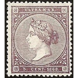 1868 ED. Cuba 22 *