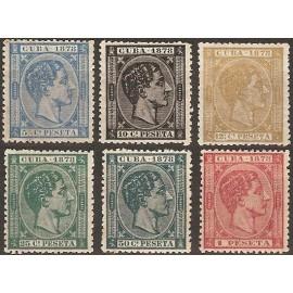 1878 ED. Cuba 44/49 *