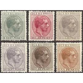 1880 ED. Cuba 56/61*
