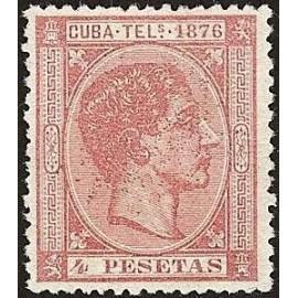 1876 ED. Cuba Telégrafos 37 *