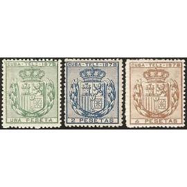1878 ED. Cuba Telégrafos 43/45 *