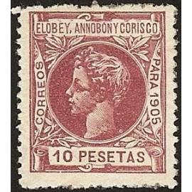 1905 ED. Elobey, Annobón y Corisco 34 *