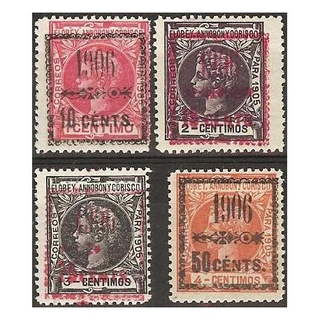 1906 ED. Elobey, Annobón y Corisco 34A/34D ** - Filatelia ...