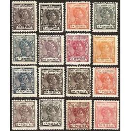1907 ED. Elobey, Annobón y Corisco 35N/50N *