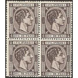 1876 ED. Filipinas 39 * [x4]