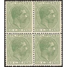 1886 ED. Filipinas 75 * [x4]