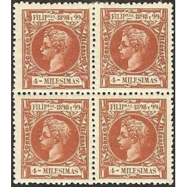 1898 ED. Filipinas 134 * [x4]