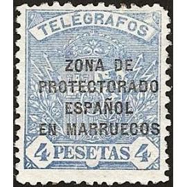 1923 ED. Marruecos Telégrafos 23 *