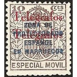 1935 ED. Marruecos Telégrafos 34Ahh **