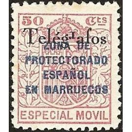 1935 ED. Marruecos Telégrafos 34Bhea **