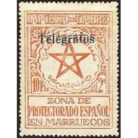 1935 ED. Marruecos Telégrafos 34Nhh *