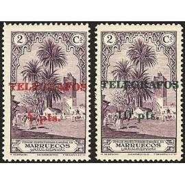 1935 ED. Marruecos Telégrafos 40/41 **
