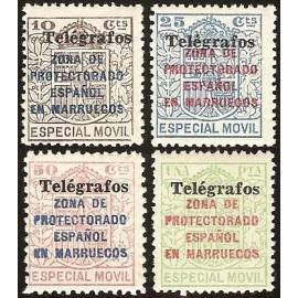 1937 ED. Marruecos Telégrafos 41A/41D ** (2)
