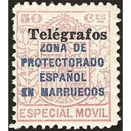1937 ED. Marruecos Telégrafos 41C **
