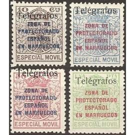 1937 ED. Marruecos Telégrafos 41E/41H *