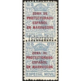 1937 ED. Marruecos Telégrafos 41Fhdv * [x2]
