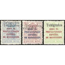 1937 ED. Marruecos Telégrafos 41Fhh/41Hhh *