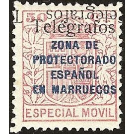 1937 ED. Marruecos Telégrafos 41Ghhi **