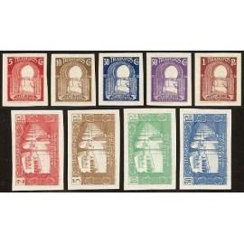 1938 ED. Marruecos Telégrafos 42s/50s **