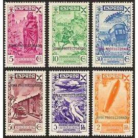 1938 ED. Marruecos Beneficencia 7/12 **