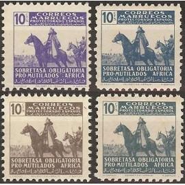 1943 ED. Marruecos Beneficencia 22/25 **