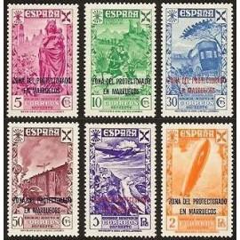 1943 ED. Marruecos Beneficencia 26/31 **
