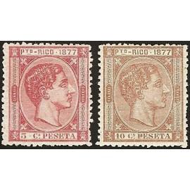 1877 ED. Puerto Rico 13ec/14ec *