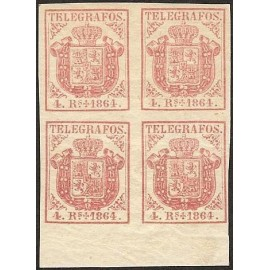 1864 ED. Telégrafos 2 * [x4]