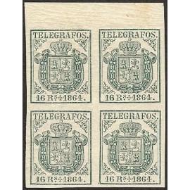 1864 ED. Telégrafos 3 * [x4]