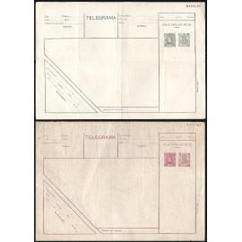 1901 ED. 1/2 * Enteros Telegráficos