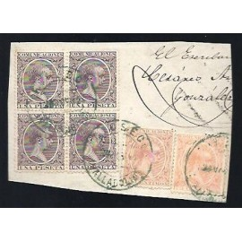 Alfonso XIII ED. 217, 225, 226 (x4)