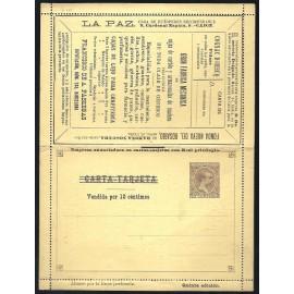 1892-1893 ED. 1 * Enteros Postales Privados