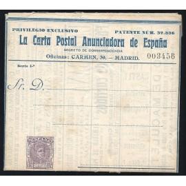 1901-1910 ED. 4A * Enteros Postales Privados