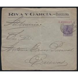 1910-1924 ED. 17 us Enteros Postales Privados