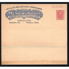 1925-1931 ED. 38 * Enteros Postales Privados