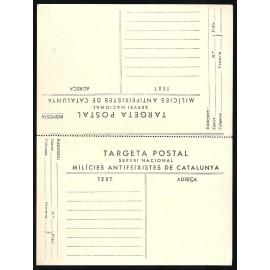 Tarjeta Postal de Campaña - Milicias Antifascistas de Catalunya