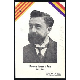 Tarjeta Postal - Francesc Layret i Foix