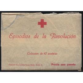 Tarjeta Postal - Cruz Roja Episodios de la Revolución