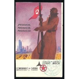 Tarjeta Postal - Ejército del Centro. Estado Mayor. Comisariado de Guerra. Inspección del Centro. (3)