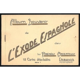Tarjeta Postal - Album Souvenir L'Exode Espagnole Serie 2