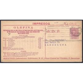 1925-1931 ED. 33 us Enteros Postales Privados
