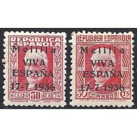1936 ED. ELP Melilla 1he/2he *