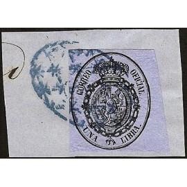 1858 ED. Cuba 9 us
