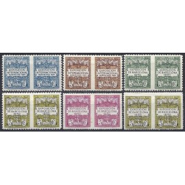 1929-1931 ED. Barcelona 1, 3/4, 6 sph y 5/6 dsph *