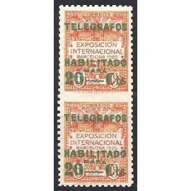 1929 ED. Barcelona - Telégrafos 2spv **