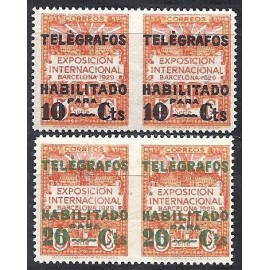1929 ED. Barcelona - Telégrafos 1dsph/2dsph *