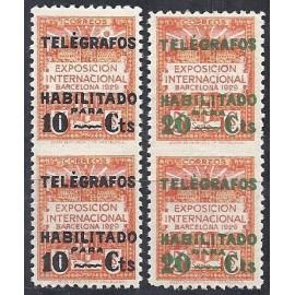 1929 ED. Barcelona - Telégrafos 1spv/2spv *