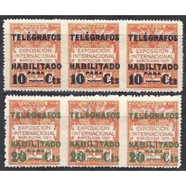1929 ED. Barcelona - Telégrafos 1dsth/2dsth **